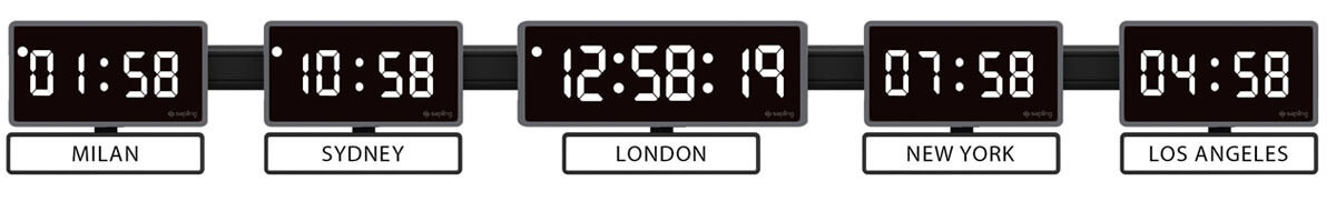 Sapling-404-Center-406-White-Zone-Clock-Black-Type-on-White-5-Time-Zones-M