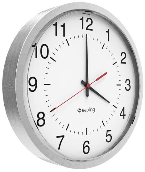Sapling-Analog-Round-45-Angle-View-Dial-S-Hands-Standard-Brushed-Aluminum-Frame